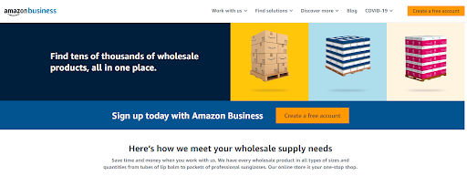 Amazon Business pricing transparency example