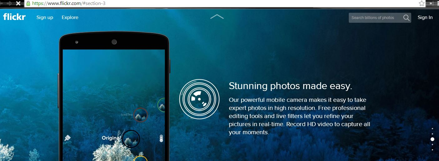 Flickr's AJAX Based Homepage