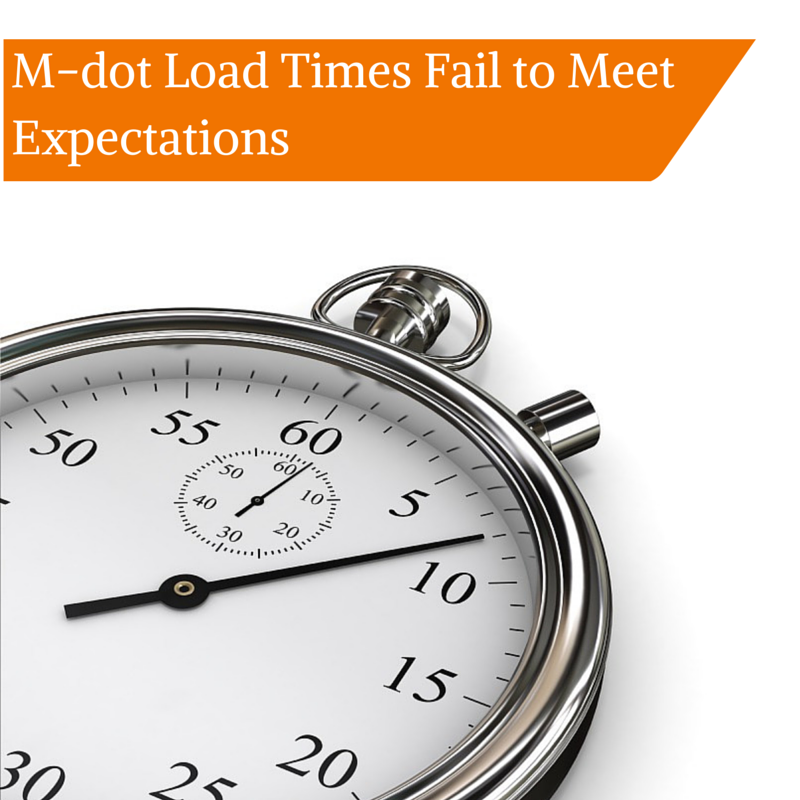 M-dot Load Times Fail to Meet