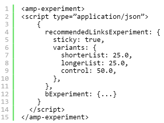 amp experiment code