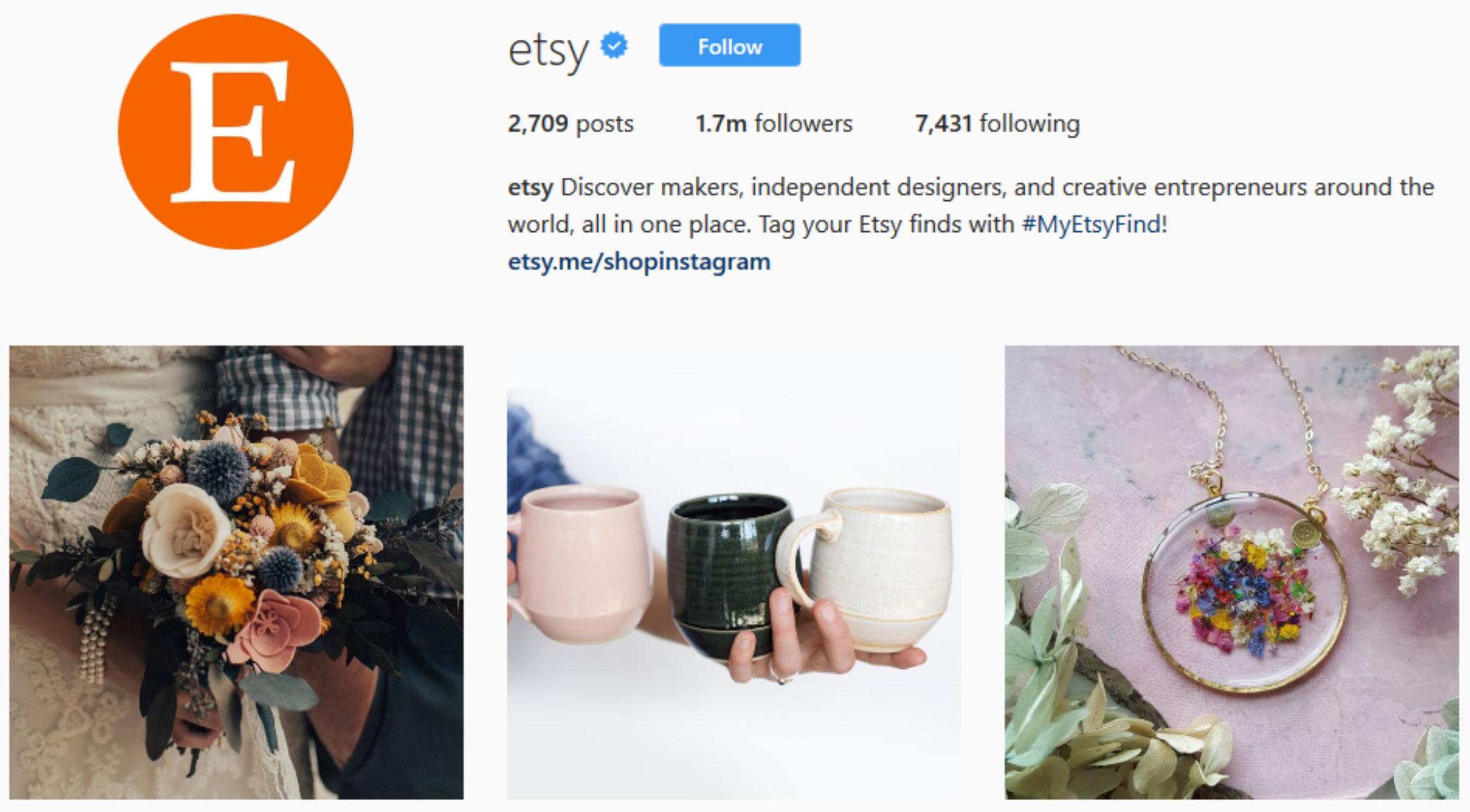 etsy instagram ecommerce