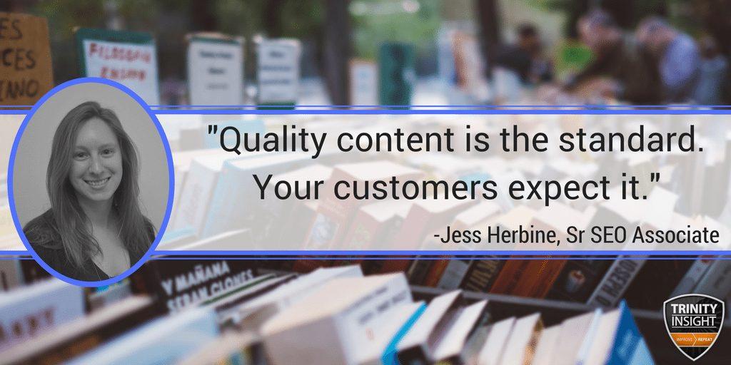 Jess Herbine Quality Content