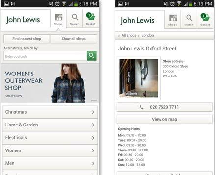 john lewis location app