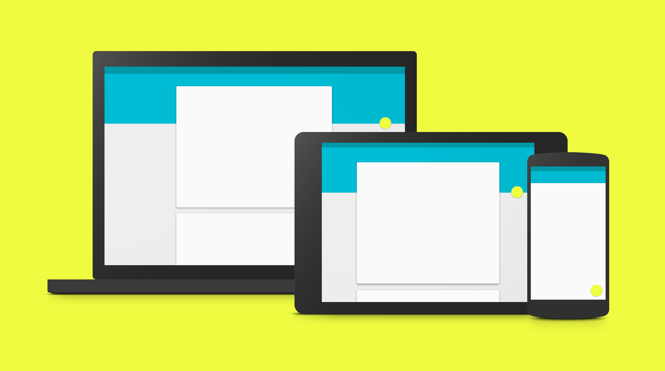 Google's material design focuses on mobile
