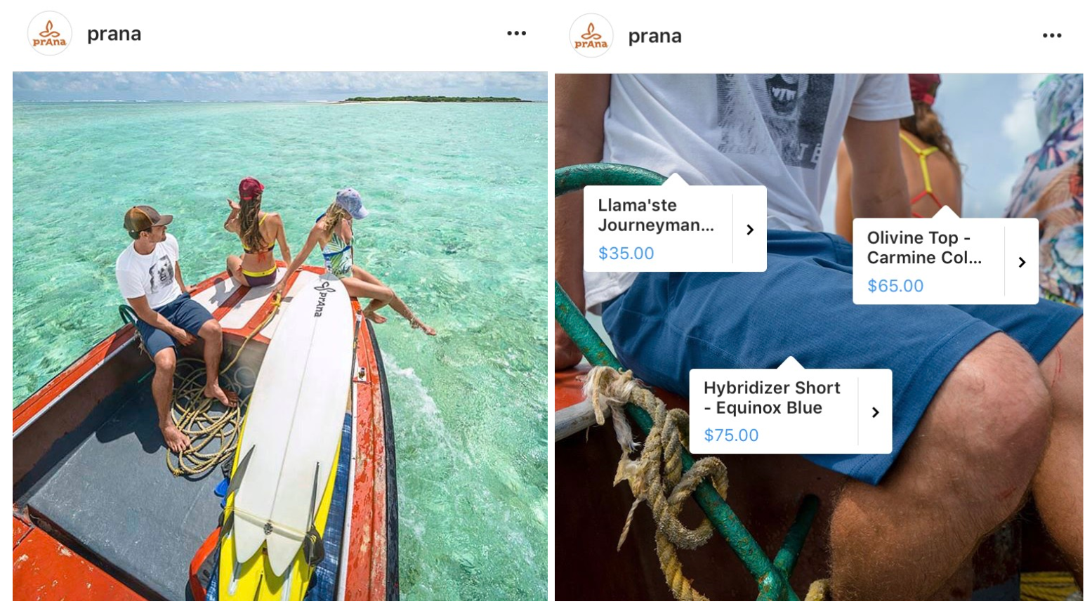 ecommerce instagram example